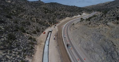 Overhead view of Nevada State Route 160