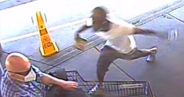 Surveillance footage of an assault from 7-30-20