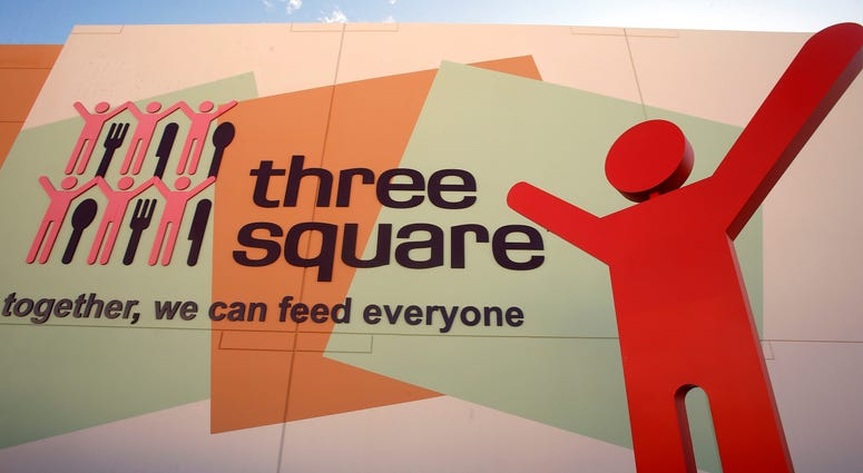 Logo for the Three Square Food Bank
