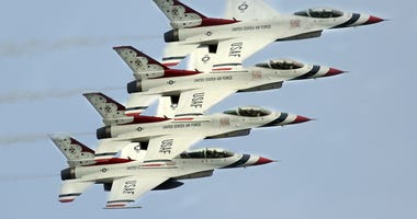 U.S. Air Force Thunderbirds flying in formation