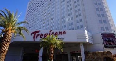 Exterior Shot of the Tropicana Hotel on the Las Vegas Strip