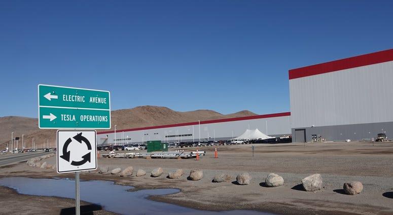 Tesla's Nevada Gigafactory on Dec. 3, 2018. Gigafactory Exterior Main