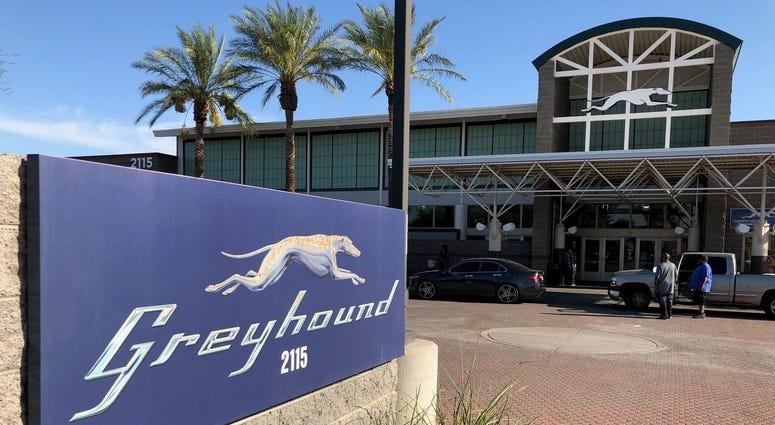 A Greyhound Bus Station In Phoenix, AZ