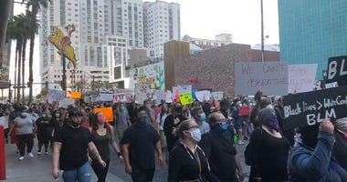 Protest march through downtown on 5-30-20