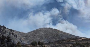The Numbers Fire burns south of Gardnerville on Tuesday July 7, 2020.