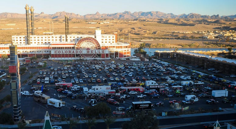 General view of technical inspection and contingency at the Colorado Belle casino during the Rage at the River.