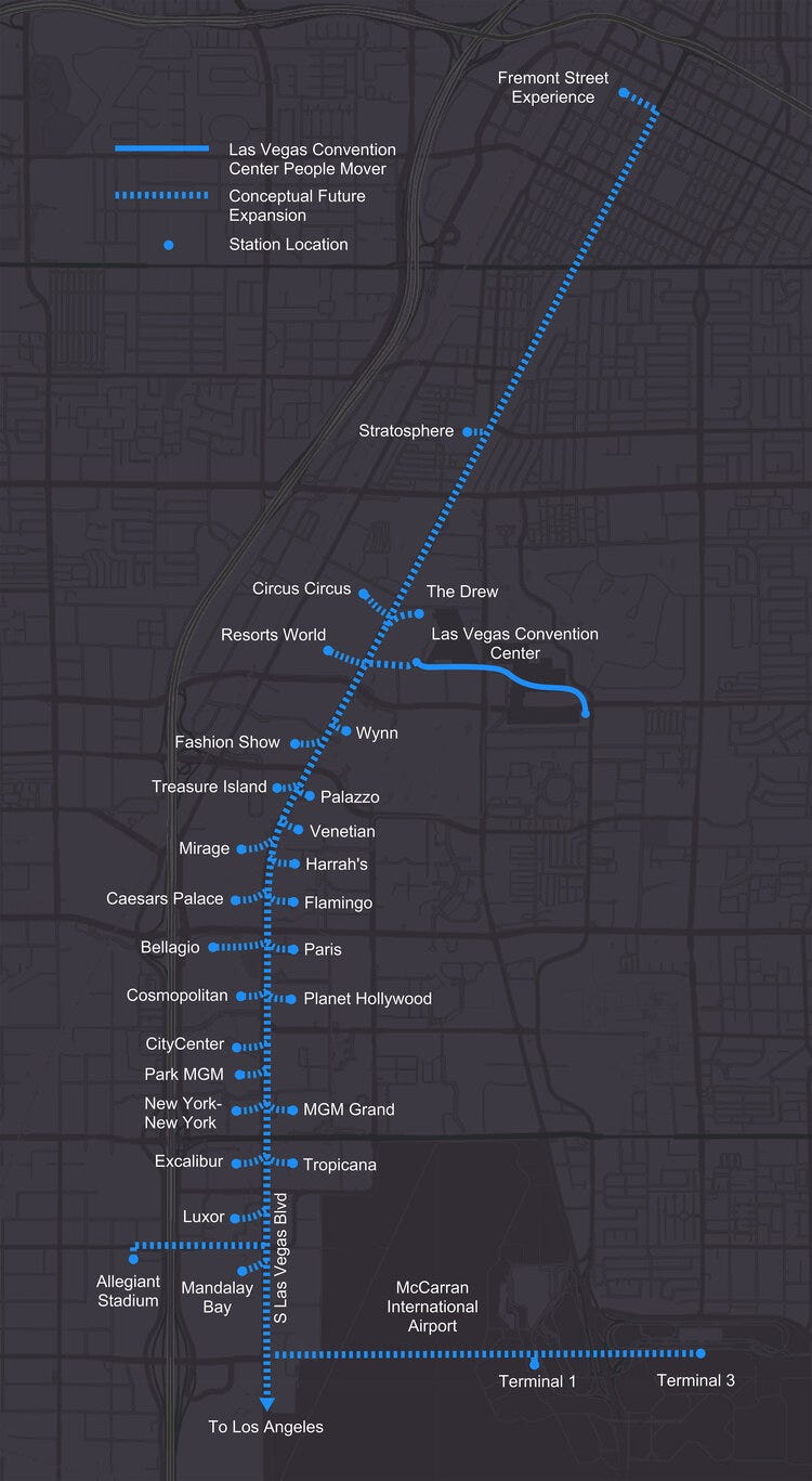 proposal diagram for underground people mover