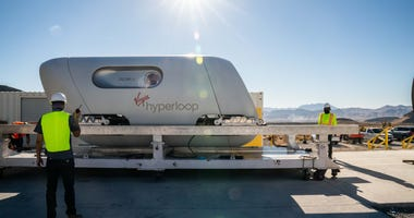 Virgin Hyperloop pod tested in Nevada desert on 11-8-20
