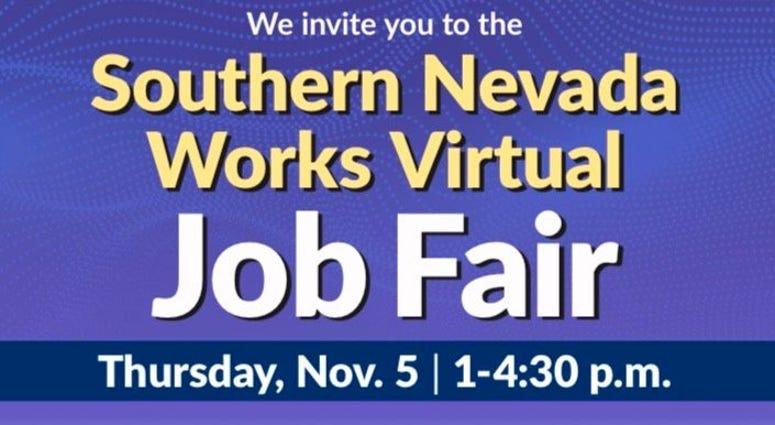 Flyer for the Southern Nevada Virtual Job Fair