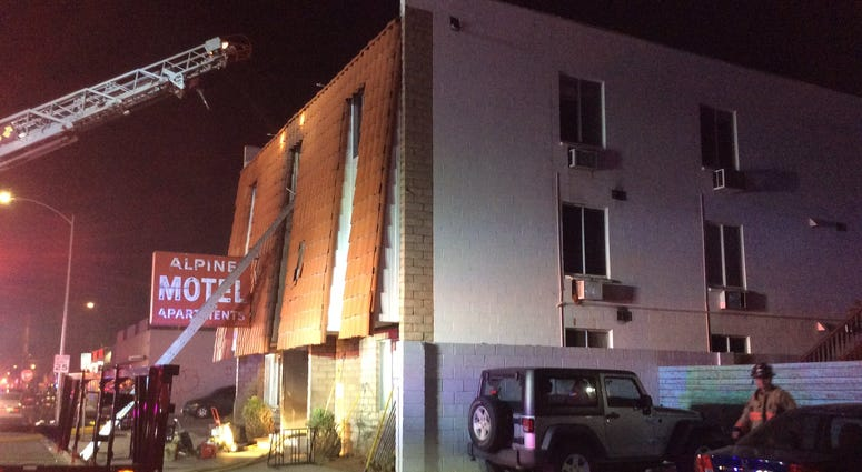 Scene of Fire at the Alpine Apartments on 12-21-19