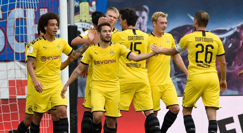 Haaland Goals Secure Bundesliga Runner Up Spot For Dortmund Kxnt 840 Am
