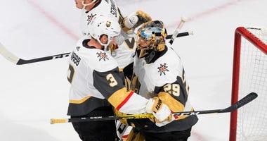 Fleury, Golden Knights Beat Blackhawks For 3-0 Series Lead