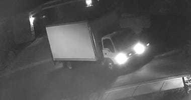 Picture of box truck wanted in appliance thefts on 10-21-20