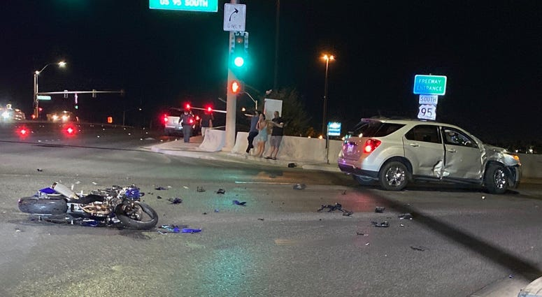 Scene of a motorcycle accident on 95 and Ann on 6-25-20