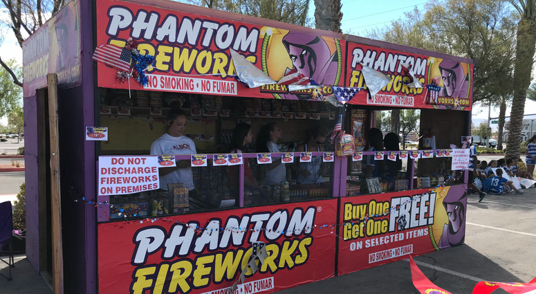 "A ""Safe-N-Sane"" fireworks stand in Clark County"