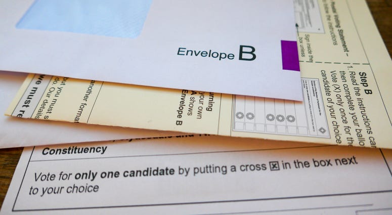 UK General Election postal vote ballot papers