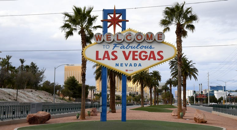 """An Empty """"Welcome To Las Vegas: sign"""