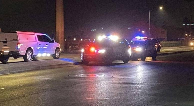 Scene of fatal crash on Pecos/Lake Mead on 12-13-19