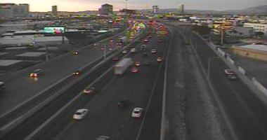 View Of I-15 looking south coming out of the Spaghetti Bowl on 12-18-19