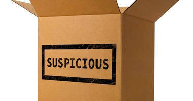 stock photo of suspicious package