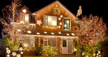 Nicely Decorated (Maybe a little too nice) House For Christmas