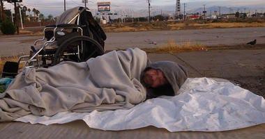 Local Las Vegas Homeless Man