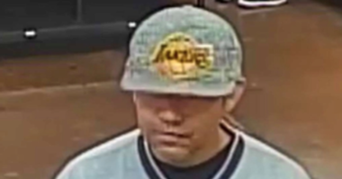 Surveillance shapshot of local robbery suspect from 11/21/19