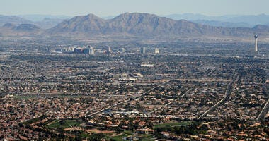 Aerial View Of The Las Vegas Valley
