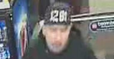 Surveillance snapshot of robbery suspect from 1-14-20