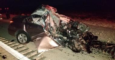 Scene of wrong-way crash on I-15 on 12-21-19
