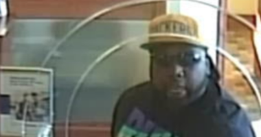 Surveillance snapshot of robbery suspect from 12-31-19