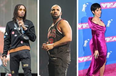 Quavo, Drake and Cardi B