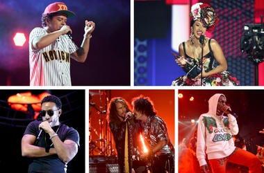 Bruno Mars, Cardi B, Migos, Aerosmith, Ludacris