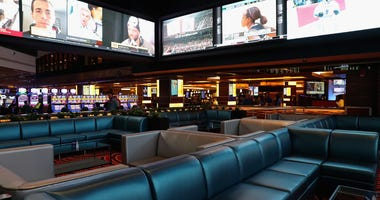An overall general view of atmosphere at the opening of William Hill Sports Book at Tropicana Atlantic City on March 8, 2019 in Atlantic City,