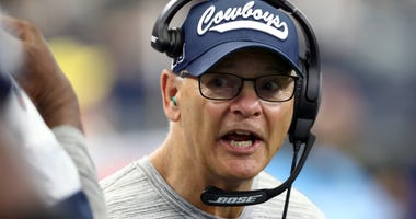 Defensive coordinator Rod Marinelli of the Dallas Cowboys at AT&T Stadium on September 22, 2019