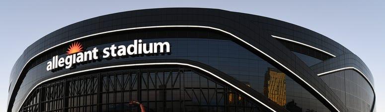 Exterior view of Allegiant Stadium
