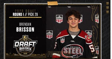 Vegas Golden Knights 1st round pick Brendon Brisson