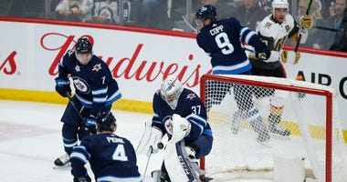 Hellebuyck Gets 6th Shutout, Jets Top Golden Knights 4-0