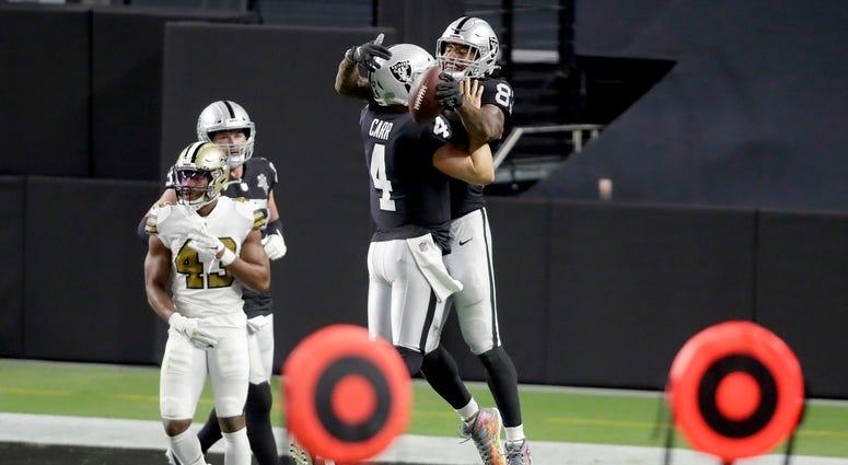 Raiders open Allegiant Stadium with 34-24 win over Saints