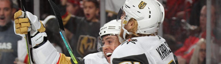 Jonathan Marchessault celebrates after scoring against New Jersey on 12-3-2019