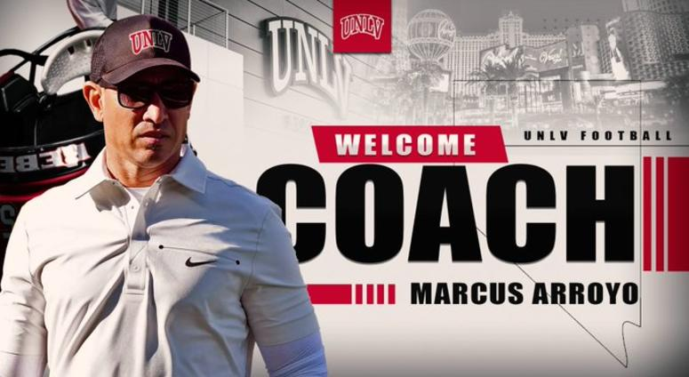 Picture Of UNLV Head Football Coach Marcus Arroyo