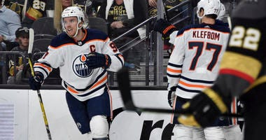 McDavid Scores 2 To Lead Oilers Past Vegas, 4-2