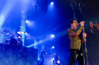 Brendon Urie of Panic! at the Disco at Allstate Arena on March 11, 2017, in Rosemont, Illinois