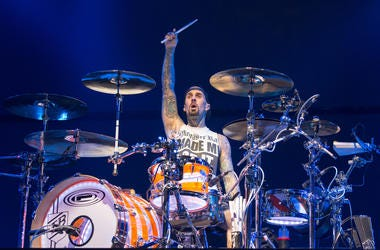 Travis Barker of Blink-182 during KROQ Almost Acoustic Christmas at The Forum on December 10, 2016