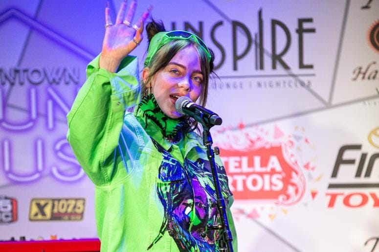 Billie Eilish On Stage Photos Courtesy Of Key Lime Photography