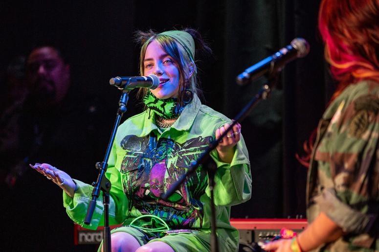 Billie Eilish On Stage7 Photos Courtesy Of Key Lime Photography