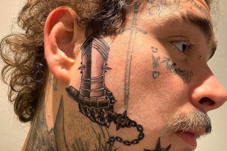 post malone tattoo