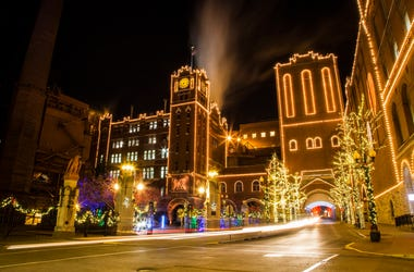 Anheuser-Busch Brewery Lights in St. Louis.