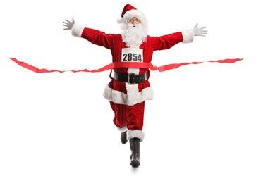 racing Santa
