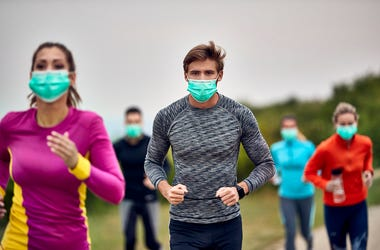 jogging with mask